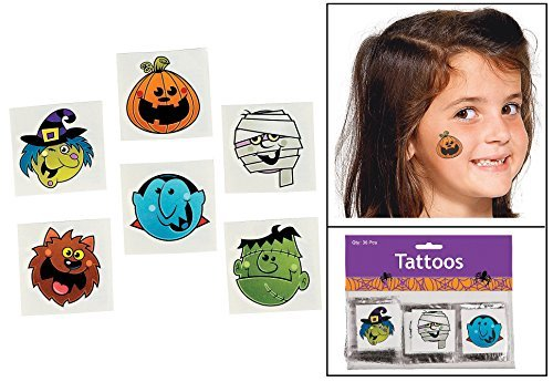 Zombie Costumes For Girls Party City (BOO BUNCH TATTOOS (6 DOZEN) - BULK)