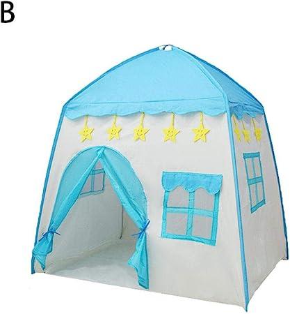 MRlegendary Castillo De La Princesa Tienda De Campaña para Niños Grandes Casa De Juego Princess Tent Girls Casa De Juegos Grande Kids Castle Play Tienda De Campaña Carpa con 51.18 37.4 51.18i: