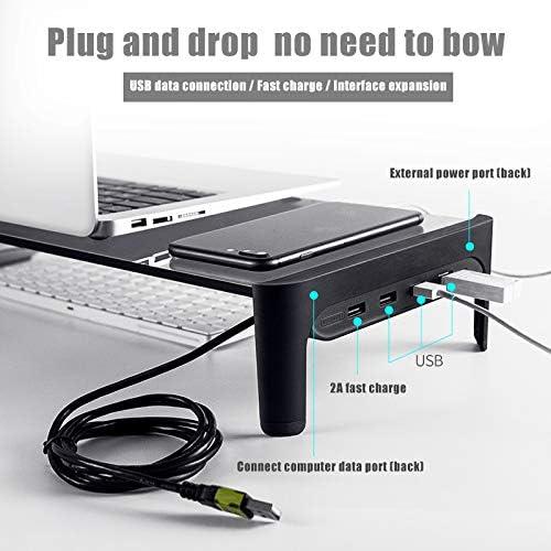 Soporte para port/átil Daxerg Smart Base aleaci/ón de Aluminio, con Puerto USB 3.0