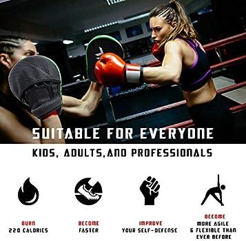 Leather Boxing Mitt Training Punch Pad Kick Hand Target Glove Focus MMA Muay AU