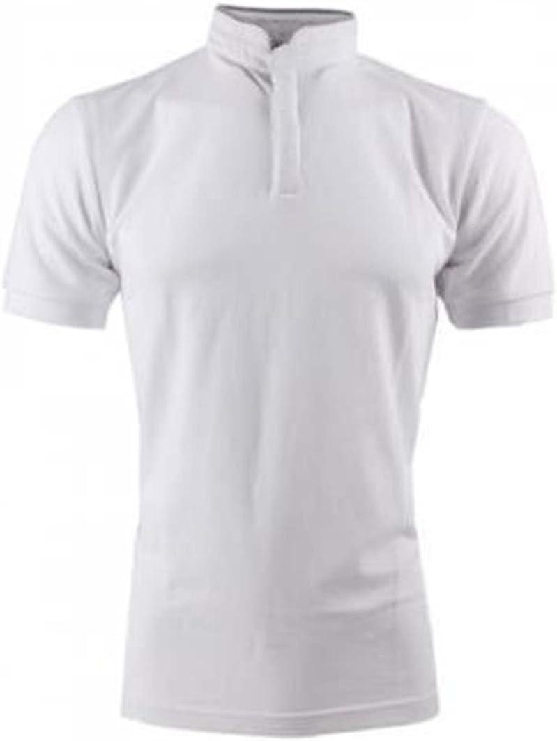 Générique Polo Cuello Mao – Hombre – Blanco – 100% algodón Blanco ...