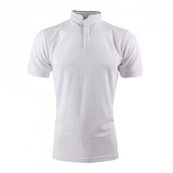 Générique Polo Cuello Mao - Hombre - Blanco - 100% algodón Blanco ...