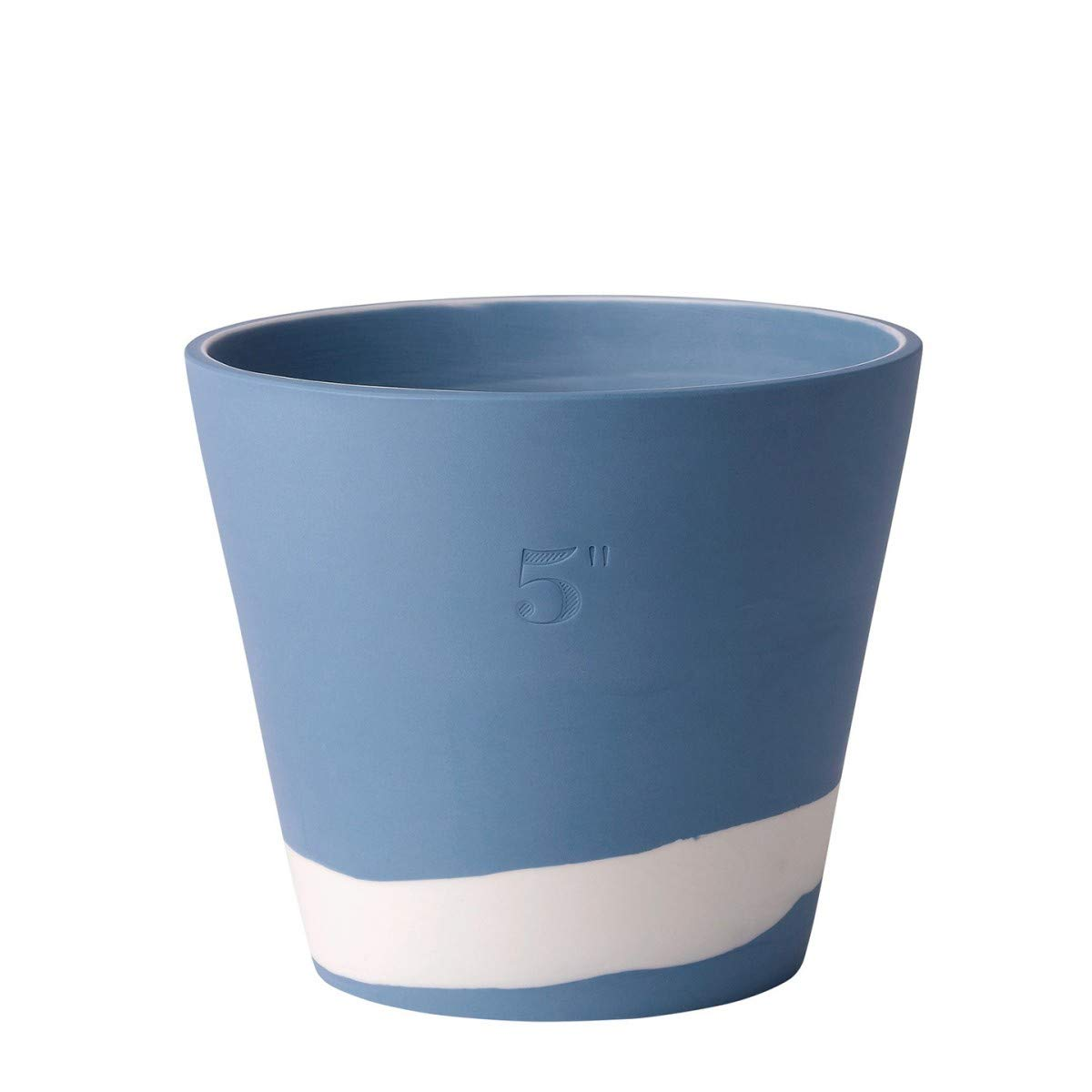 Wedgwood 40031980 Burlington 5'' Planter, 5'', Blue, White