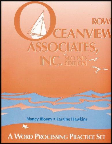 Oceanview Associates, Inc: A word processing practice set
