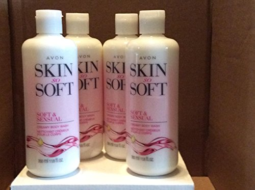 Skin So Soft Soft Sensual Creamy Body Wash lot 4 pcs.