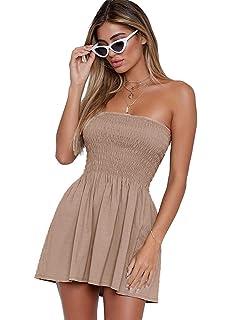 71291b1e4ce Angelegant Tube Top Dress Women Sexy Strapless Mini Dress Sleeveless Summer  Dresses