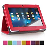 "NSSTAR PU leather Slim 7 inch tablet Folio Protective Cover Case with Stand for 7"" Afunta Q88, Alldaymall A88X 7'',NeuTab N7 Pro,Chromo Inc 7"",AGPtek, Alldaymall Q88,Axis,Chromo,Dragon Touch A13 Q88,Y88, FastTouch, Fortress, Kocaso M752WH/M752SL/M752WH/M752BL 7-Inch Tablet, Kocaso M752 7"" Android 4.0 All Winner A13, Matricom Tab Nero, Matricom G-Tab Nero CX2, Megafeis M700, Nationite QX7, NeuTab N7, Noria Jr, Noria T2, Portworld, Riin, Simbans 7.0, ZTO N1 plus, Zeepad 7.0(Red)"