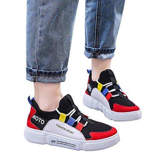 Frauen Plattform KIMODO Schuhe Komfortable Sport Rot Schnürschuhe Mode Sohlen Lässig 7YHYZx
