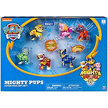 Amazon Com Paw Patrol Mighty Pups Action Pack Gift Set