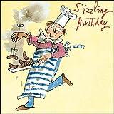 Woodmansterne Birthday Card - Quentin Blake - Sizzling Chef! (2007)