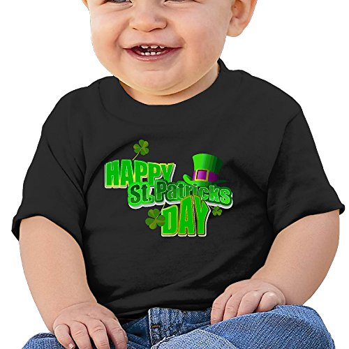 Qbeir Happy St.patricks Day Infant 6-24 Months Elegant Round Neck Short Sleeve T - St Shopping Walnut