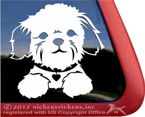 Adorable Shih Tzu Puppy Face Decal Vinyl Dog Window Car Truc
