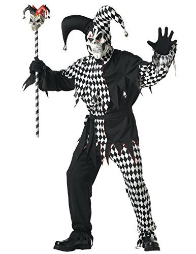 Black and White Evil Jester Adult -