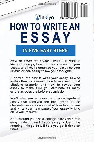Amazon how to write an essay in five easy steps scribendi