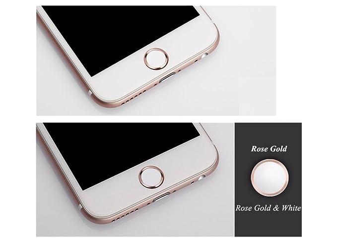 cd01fa43b6e Amazon.com: Touch ID Home Button Sticker for iPhone 6S/6, 6S/6 Plus ...