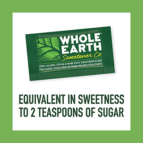 WHOLE EARTH SWEETENER Stevia and Monk Fruit Sweetener, Erythritol Sweetener, Sugar Substitute, Zero Calorie Sweetener, 1,000 Stevia Packets by Whole Earth Sweetener Company (Image #3)