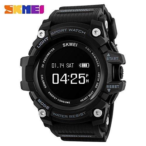 Reloj de Pulsera Inteligente para Hombre Reloj de Pulsera Bluetooth para Hombre Reloj analógico Digital para