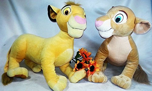 Disney Lion King Simba and Nala large set Jumbo Stuffed A...