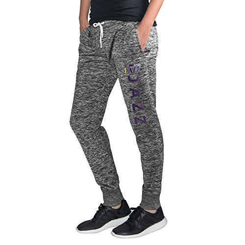 GIII For Her NBA New Orleans Jazz Women's Sideline Skinny Pants, XX-Large, Heather Grey