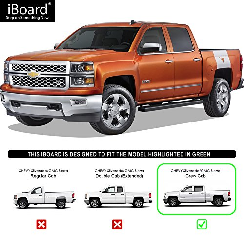 "2007 Gmc Sierra Classic 3500 Extended Cab Transmission: APS IBoard Running Boards 4"" Black Custom Fit 2007-2018"