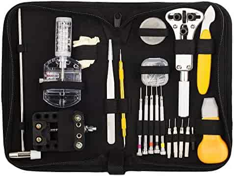 Readaeer 158 Pcs Portable Watch Repair Tools Kit Set Back Case Opener Remover