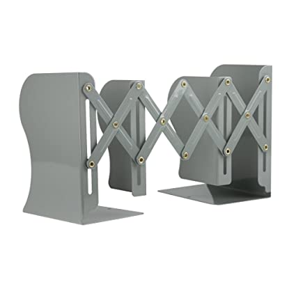 Clobeau Bookends Book Racks Metal Iron Adjustable Books Holder Stand Desk Nonskid Bookend Magazine File Holders