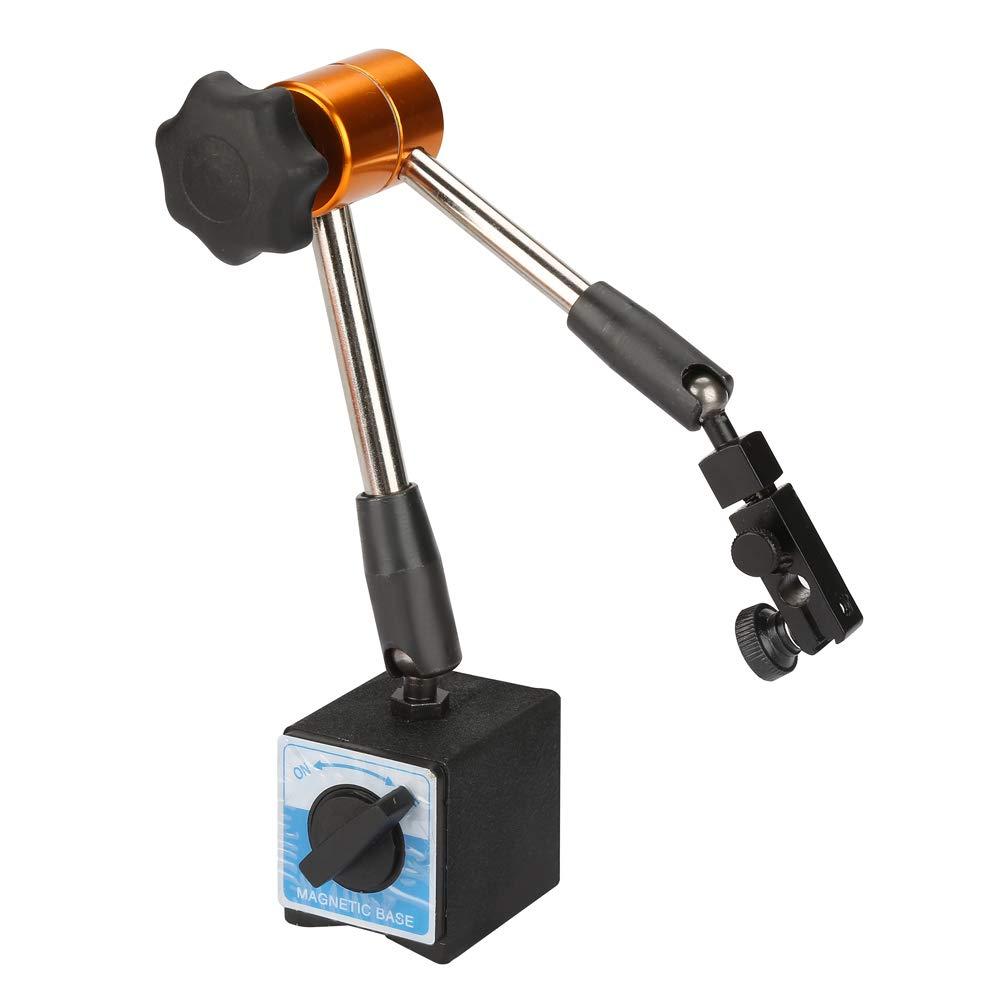 AdjustableMagneticBaseHolder, Carbon Steel 368mm Universal Magnetic Base Holder Stand with 60kg Holding Force for Level Dial Indicator