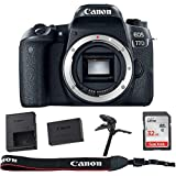 Canon EOS 77D DSLR Body - Bundle with 32GB SDHC Card, and Table Tripod