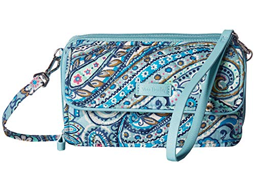 Vera Bradley Iconic RFID All in One Crossbody, Signature Cotton, Daisy Dot Paisley