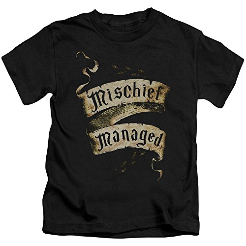 Juvy Heather T-shirt - Trevco Harry Potter Mischief Managed Little Boys Juvy Shirt (Black, 5 6)