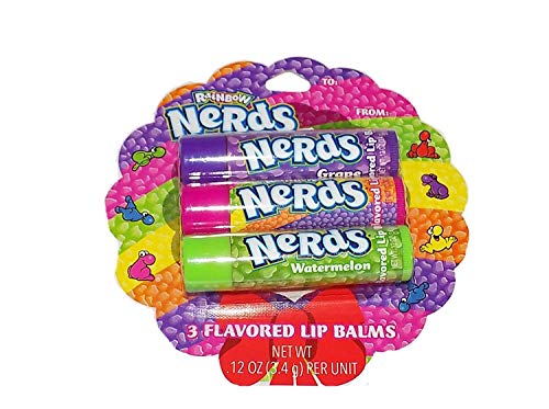Flavored Moisturizing Lip Balms! Choose Your Favorite: Either Pepsi Or Nerds Flavored! Each Set Includes 3 Lip Balms! Smells Delicious! (Nerds)