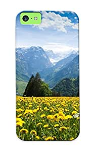 Awesome XIevNNc822DGOtX Tinmanhect Defender Tpu Hard Case Cover For Iphone 5c- Alps Mountains