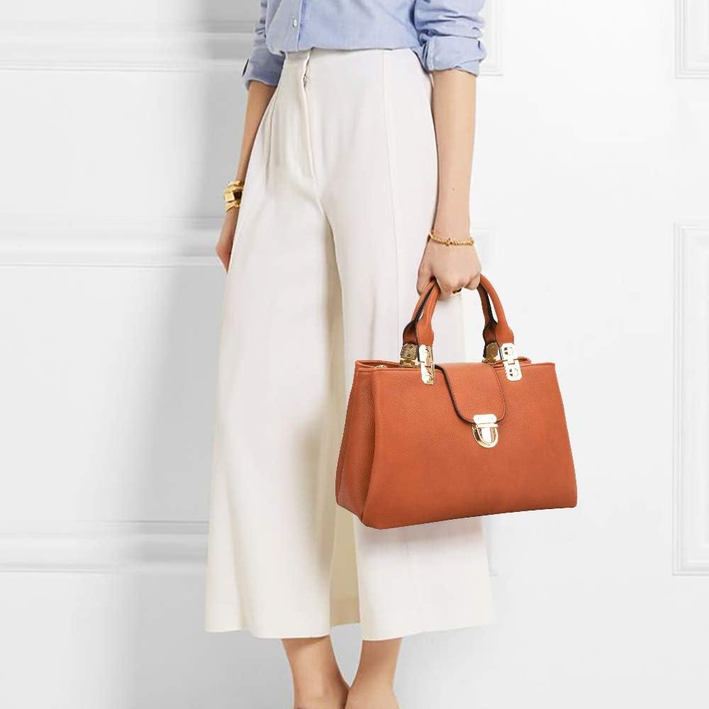 Dasein Women Satchel Handbags Top Handle Purse Medium Tote Bag Vegan Leather Shoulder Bag