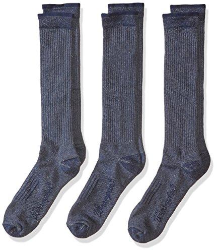 Wrangler Men's Lightweight Ultra-Dri Boot Socks 3 Pair Pack, Navy, Sock Size:10-13/Shoe Size: 9-13 ()