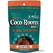 Sejoyia Brownie Coco-Roons. Chewy Cookie Bites, Cocoroon. Gluten Free, Paleo Snack, 2 oz, 12 Count