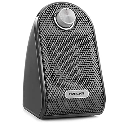 OPOLAR Mini Ceramic Heater with Adjustable Thermostat, 500 W Heating for Small Room, Office,Desk,Personal or Other Cubic Space,Powerful and Portable, Stylish and Silent, ETL Approved