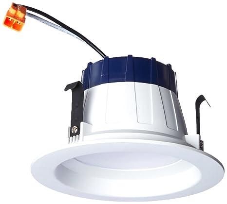huge discount 8757e 35f07 SYLVANIA General Lighting 74287 RT4 Sylvania Ultra 50W Equivalent White  Trim LED Recessed Retrofit Downlight (Fits Housing Diameter: 4-in)