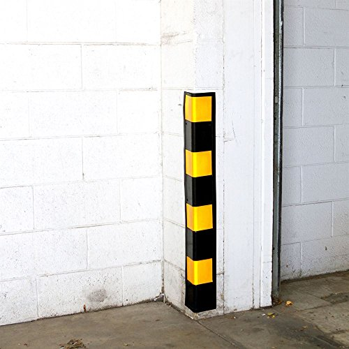 Rage Powersports DH-128L 34'' Rubber Wall Corner Guard for Parking Garages/Warehouses by Guardian Industrial Products (Image #3)