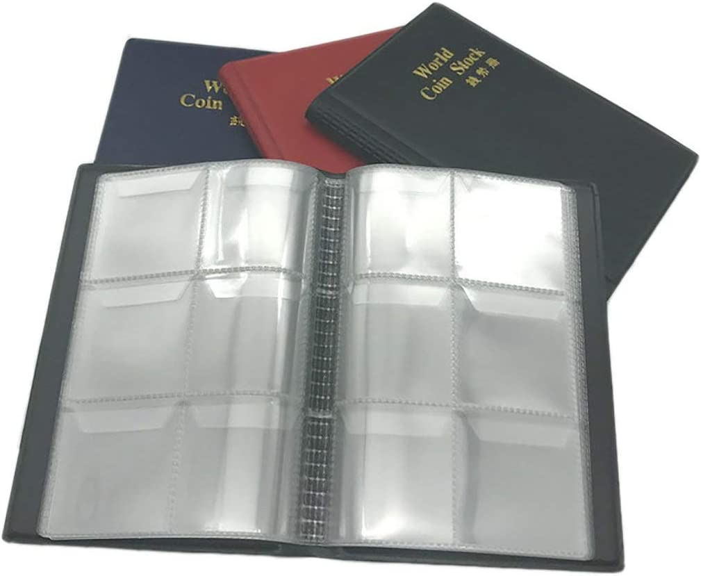 Romirofs 60 Pockets Coin Holders Collecting Album Storage Coin Collection Supplies Book Currency Holder Collecting Album