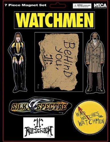 NECA Watchmen Movie Set of 7 Magnets Rorschach