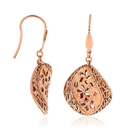 Gioiello Italiano Boucles d'oreilles Juliette en or rose 18 carats en forme de diamant
