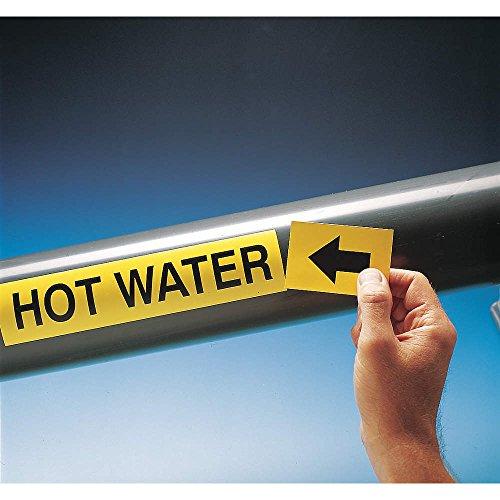Brady 20465 Pipe Marker, Sanitary Sewer, 1