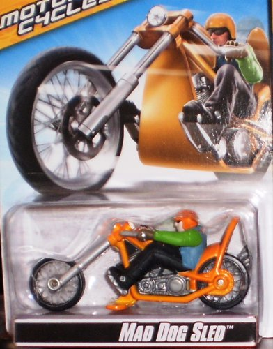 MATTEL HOT WHEELS MOTOR CYCLES MAD DOG SLED # P4797