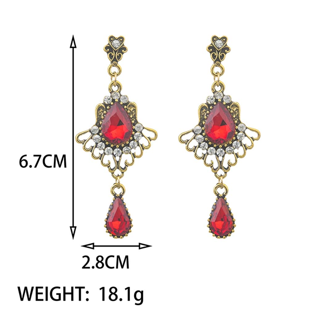 Lanyan Austrian Cut Crystal Rhinestone Pierced Wedding Bridal Teardrop Drop Dangle Earrings