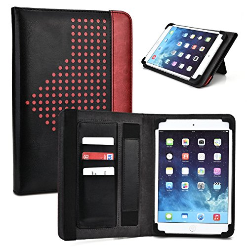 Flame Red Universal Tablet Case 9.7 with Built-in Stand fits AMARELEC 9-Inch, HP Touchpad 9.7