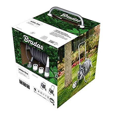 Bradas White Silver Plus Set Carro Manguera 30 m Agua Manguera Manguera de jardín Carro 2402: Amazon.es: Jardín
