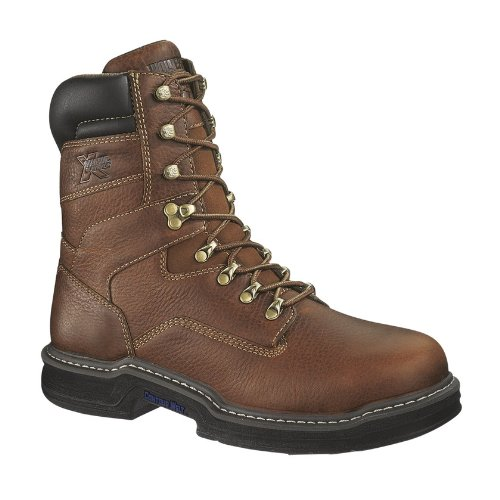 "picture of Wolverine Men's Raider 8"" Multishox Steel Toe Boots Brown W02423 Size 10.5EW"