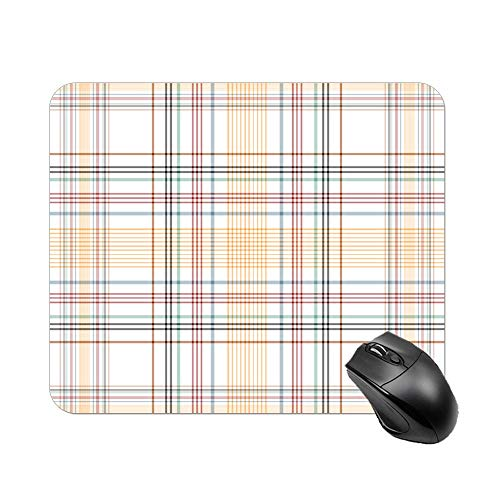 Atunme Mouse Pad Parallel Plaid Line Pattern red Orange Customized Rectangle Non-Slip Rubber Mousepad Custom Gaming Mouse Pad