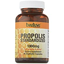 Beelieve Bee Products Propolis Capsules Standardized 500mg Equivalent 1000mg, 90-Count