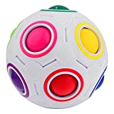 Twister .CK Children's 3D Intelligence Puzzle Magic Rainbow Ball Puzzle Toys Speed Cube Football Style Magic Cube Puzzle with Plastic Case Best gift for all Ages(11 Colors)